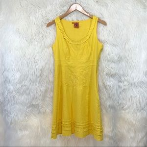 🌼 Tory Burch Yellow Sleeveless MiniDress Sz 8 🌼